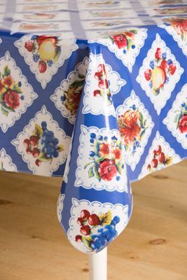Heavy Duty Oilcloth Tablecloth | Floral Oilcloth