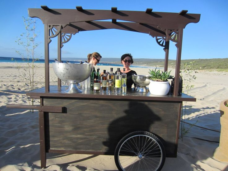 Asian inspired food cart perfect for food station style events and bar service
