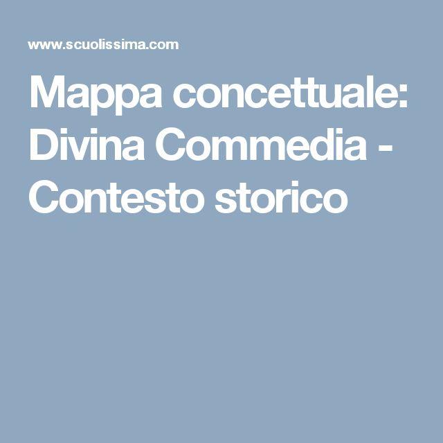 Mappa concettuale: Divina Commedia - Contesto storico