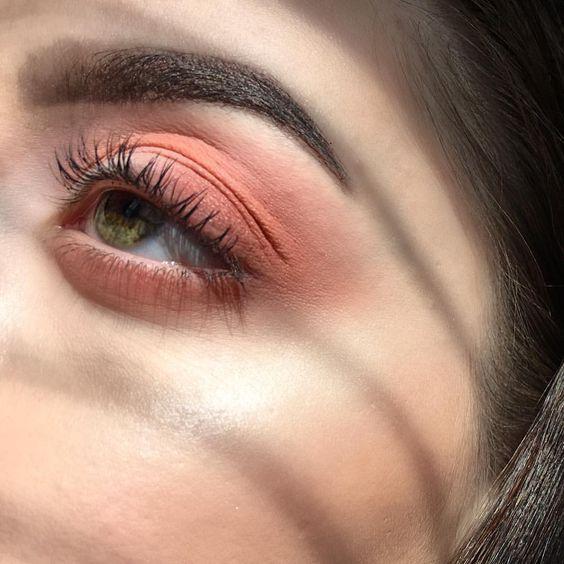 @evatornado peach eye makeup