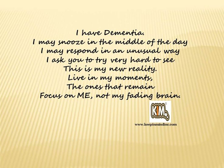 Living With Someone Who Had Dementia