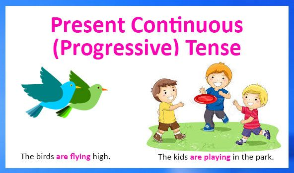 Learn English online free! Present continuous (progressive) tense. English grammar – verb tenses. Present continuous tense uses, rules, examples and worksheets. Free and printable.