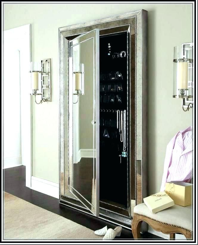 Stand Up Mirror Jewelry Armoire Standing Beautiful Furniture Floor