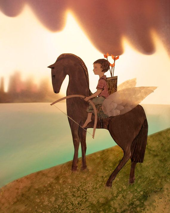 """Esty """"In His World, he was King.."""": Elly Mackay S, Artists, Ellymackay, Beautiful, Illustration, Horse, Cloud, Theater"""