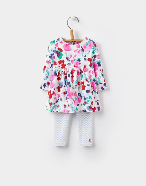 Joules UK Christina Baby Girls 2 Piece Dress Set