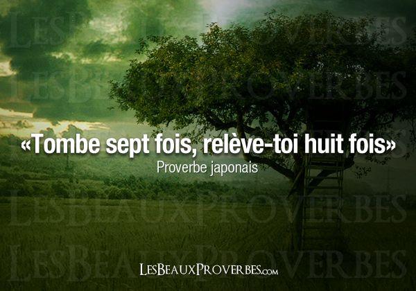 Les Beaux Proverbes – Proverbes, citations et pensées positives » Tombe et relève-toi