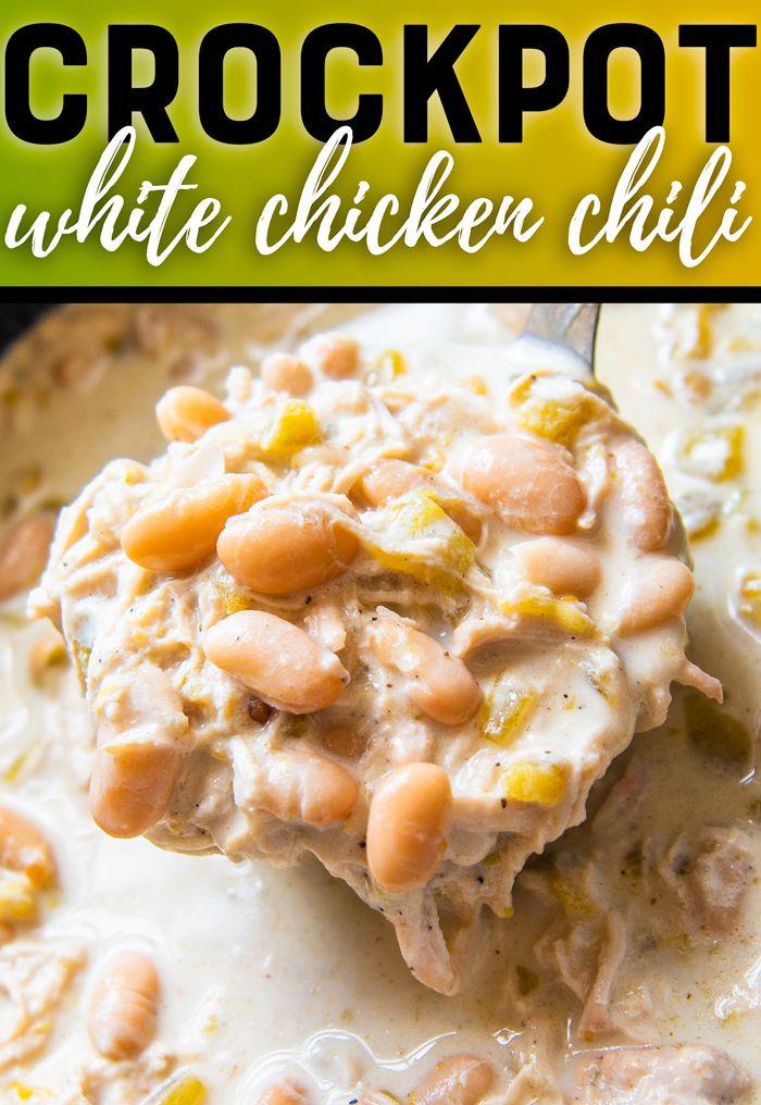 Crock Pot White Chicken Chili Recipe Slow Cooker Chicken Chili White Chicken Chili Slow Cooker Crockpot White Chicken Chili