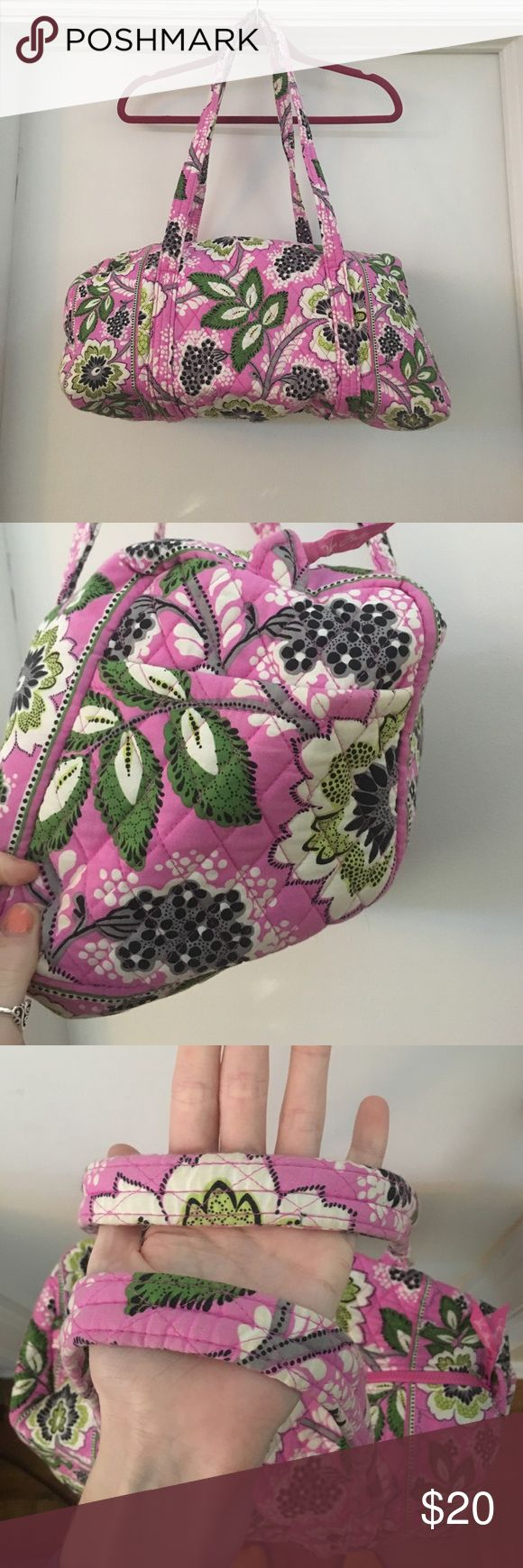 Vera Bradley Overnight Bag Used, slightly discolored handles. Very great quality and good for overnight trips. Vera Bradley Bags Travel Bags