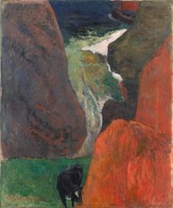 Paul Gauguin, Marine avec vache, 1888
