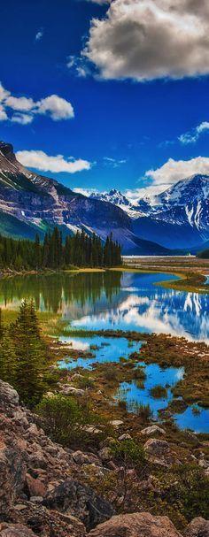 Cavell Lake, Jasper National Park, Alberta, Canada