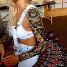 תוצאת תמונה עבור feminine sleeve tattoo
