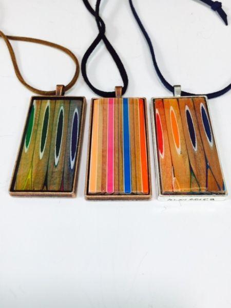 Colored Pencil Pendants by Alan Adler