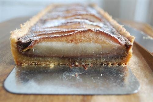 Chocolate Pear Custard with Almond Shortbread Crust | Dessert Recipes ...