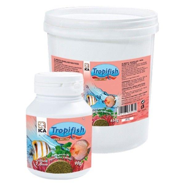 ICA Tropifish Granulo Grande alimento premium en granulos para peces diferentes formatos y tamaños comprar en puppytienda online San Fernando de Henares