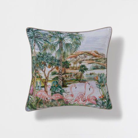 Almofada estampado flamingos zara home casa e austr lia - Zara home portugal ...
