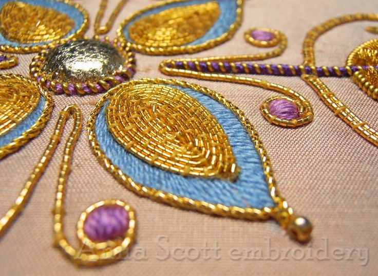 'Summers Glow' - goldwork embroidery by Anna Scott