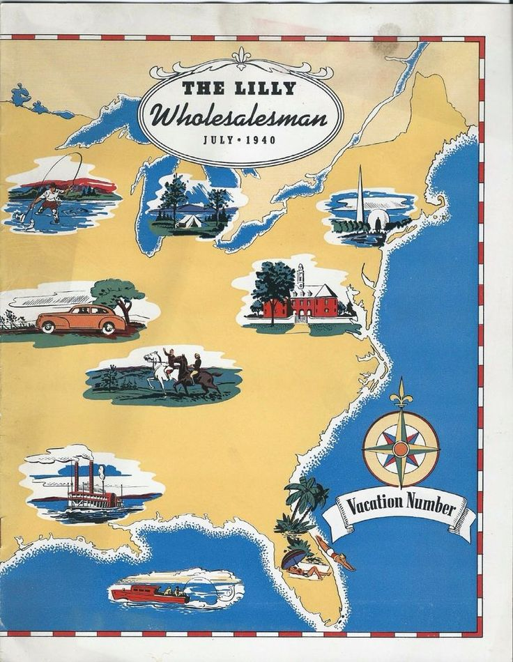 1940 Eli Lilly Wholesalesman ~ Magazine for Lilly Drug Reps SOLD