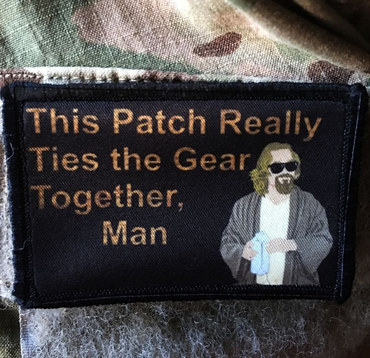 "Big Lebowski Movie ""Pee Rug"" Morale Patch The Dude"