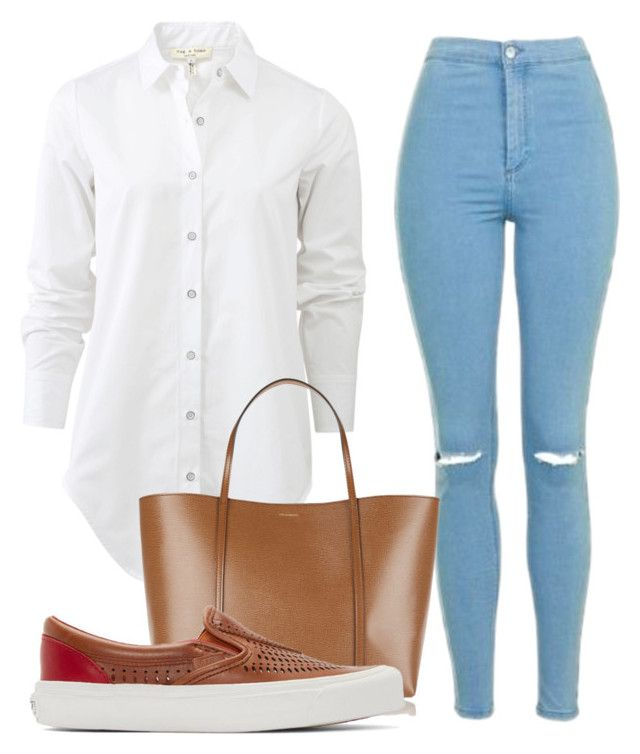 """Untitled #1008"" by nneomaswag ❤ liked on Polyvore featuring rag & bone, Topshop, Dolce&Gabbana and Vans"