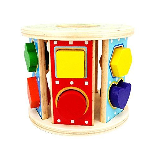 Kiddy Shape Sorter | 12 Holes Nontoxic Rolling Wooden Geometric Block Baby Toddler Preschool Educational Toys Color Recognition Match and Stack Puzzle | Premium Basswood | 12631  Kiddy Shape Sorter(TM)     You already bought a lot of toys for your toddlers but worried about their early education? No need to worry, now they can play and learn at the same time with Kiddy Shape Sorter(TM).     Discover the Excitement from Kiddy Shape Sorter(TM)    Encourages color and shape recognition ..