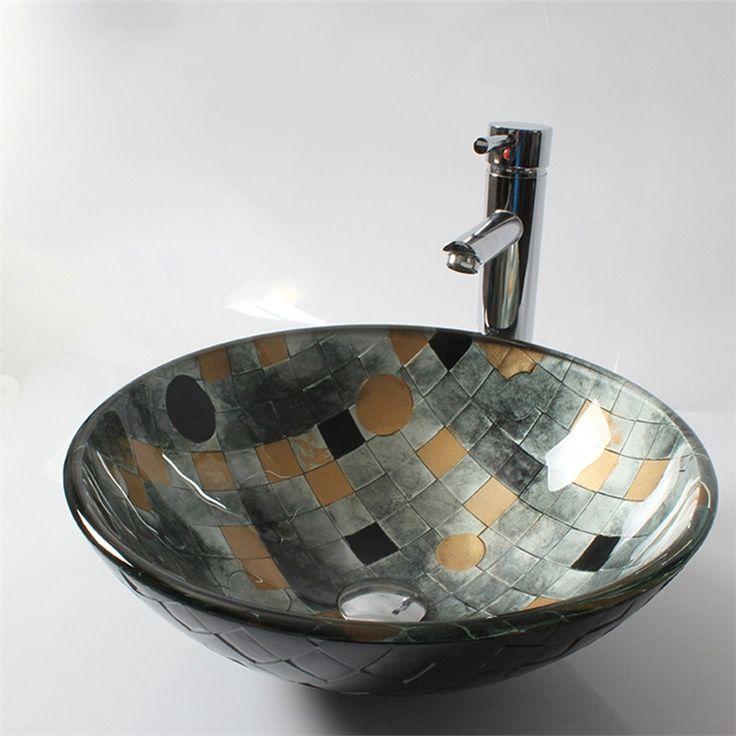 彩色上絵洗面ボウル 手洗器 手洗い鉢 洗面台 洗面器 洗面ボール 洗面ボール 排水金具付 HAM0058