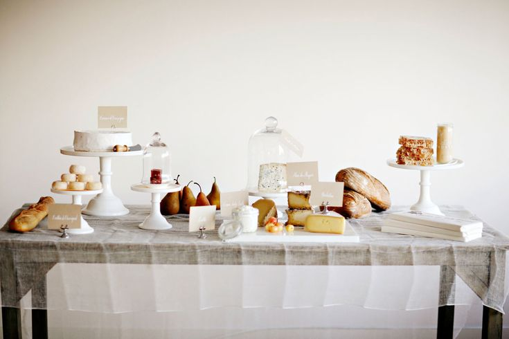cheese and honey table