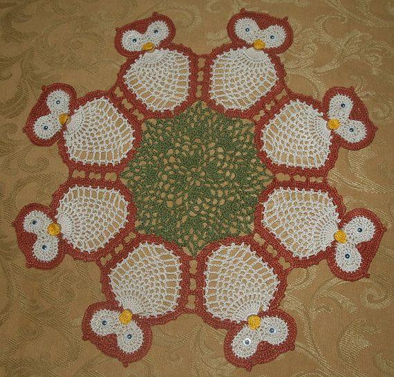 Crochet Larger  Owl  Owls   Doily Pattern by vjf25 on Etsy, $4.95