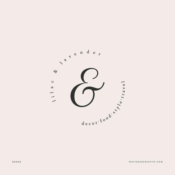 Lilac & Lavender Logo Identity Package by WhiteOakCreativegraphic design, professional logo, blog logo, affordable logo, blog header, feminine logo