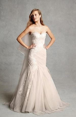 Sweetheart Mermaid Wedding Dress  with Dropped Waist in Lace. Bridal Gown Style Number:33016122