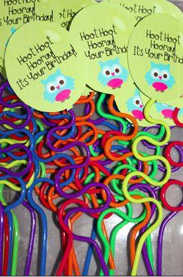 Birthday crazy straws - cute printable.