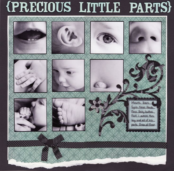 Precious Little Parts - Scrapbook layout  would be nice in colour