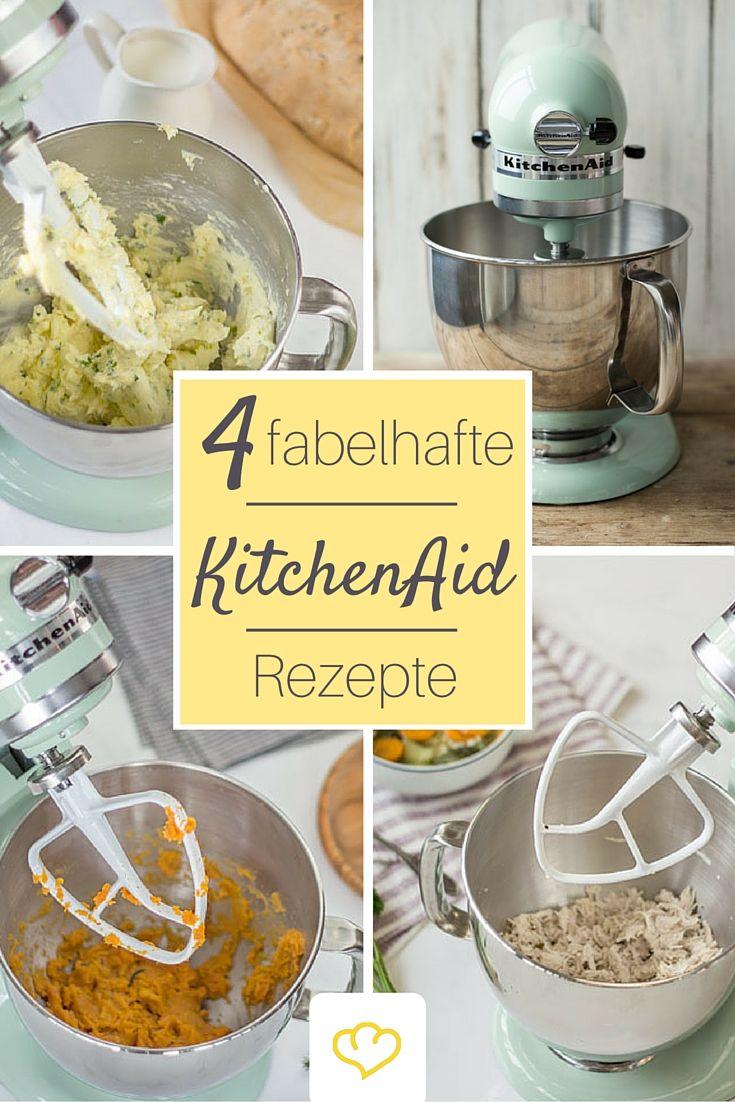 Ob Hähnchen schnetzeln, Kartoffeln pürieren oder Kräuterbutter - hier findest du 4 tolle Rezepte, die du mit deiner KitchenAid machen kannst!