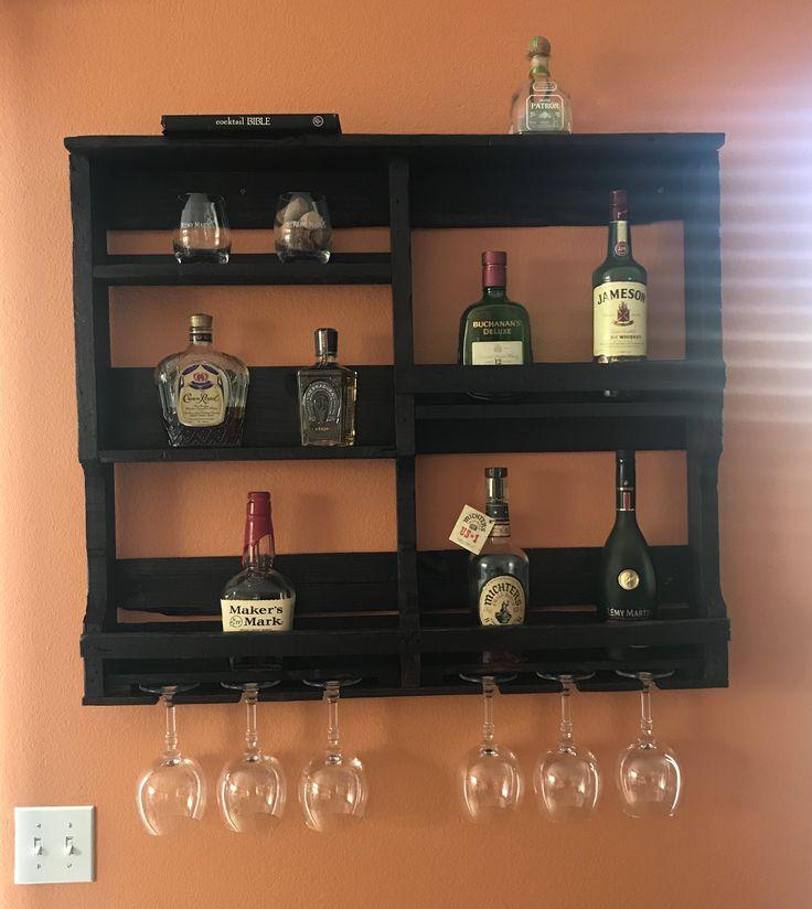 Liquor Cabinet / Reclaimed Pallet Wood / Wine Rack ...