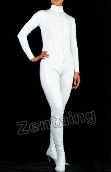 Uniclor White PVC Catsuit