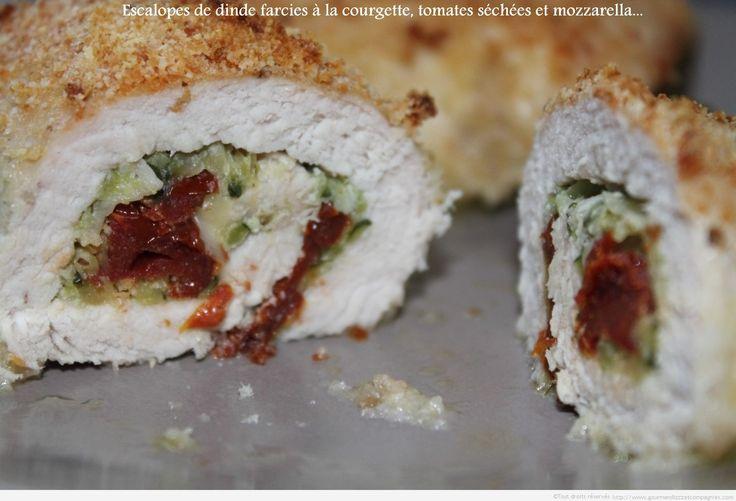 escalope de dinde farcie à la courgette , tomates séchées et mozzarella 1