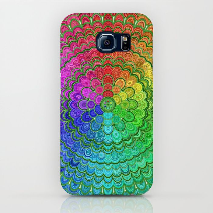 SOLD: Rainbow Flower Mandala Samsung Galaxy S8 Case