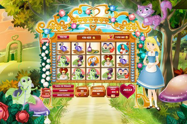 Slot Alice in Wonderland by Noe Rivera, via Behance