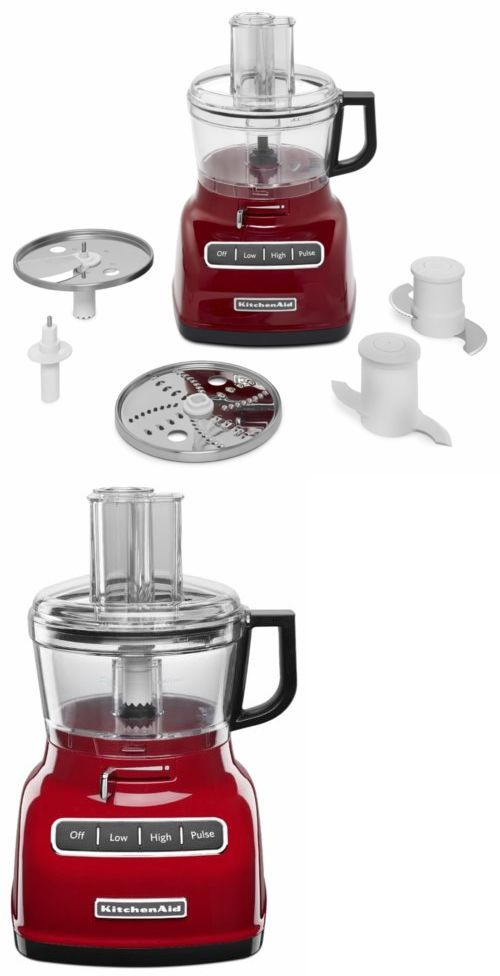 Small Kitchen Appliances: Kitchenaid Kfp0722er Red 7-Cup Food Processor With Exactslice System -> BUY IT NOW ONLY: $126.08 on eBay!