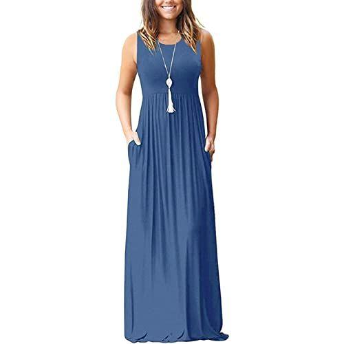 Molerani Women S Loose Plain Maxi Dresses Casual Long Dresses With Pockets Fashion Womendress Bestseller In 2020 Maxi Dress Long Dress Casual Casual Dresses
