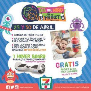Promoción del día del niño 7 Eleven frözt gratis