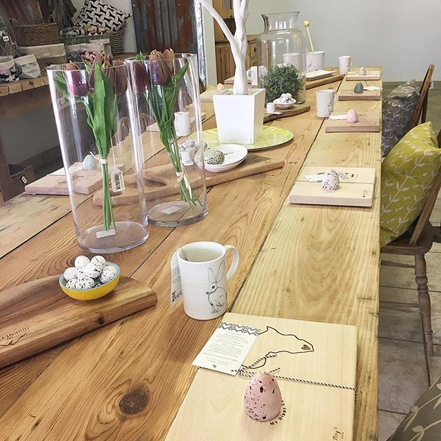 SnapWidget | We had a visit from the Easter bunny! Riverine rabbit ceramics, dippy egg boards and more in store for your Easter table! #therubyorchard #easter