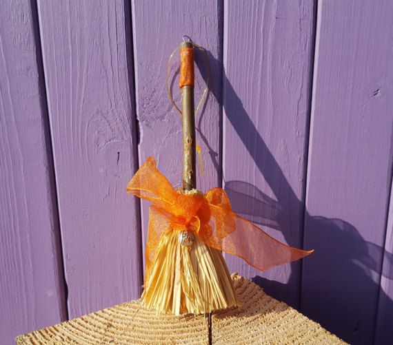 Halloween Broom Wiccan Amulet Samhain Broomstick Autumn