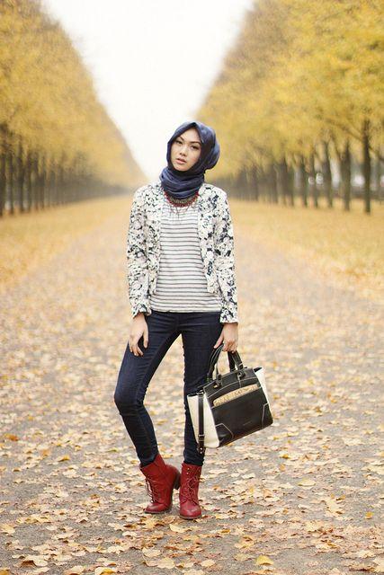Indah Nada Puspita, hijab style