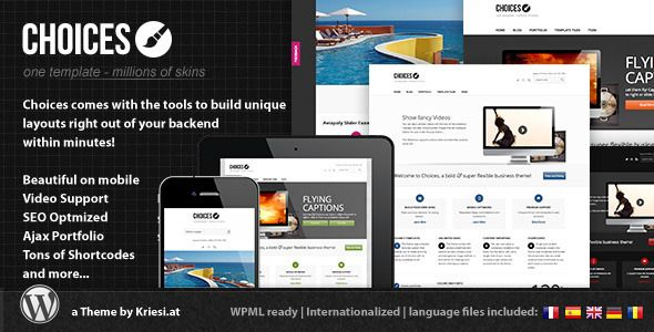 Choices - Responsive Business and Portfolio - ThemeForest Item for Sale