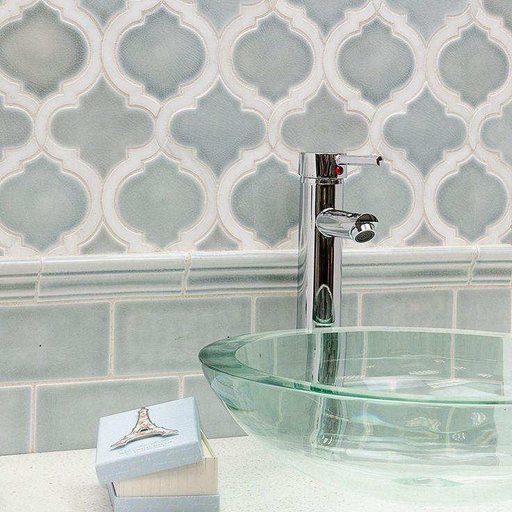 Nabi Arabesque Arctic Blue Marble And Ceramic Tile