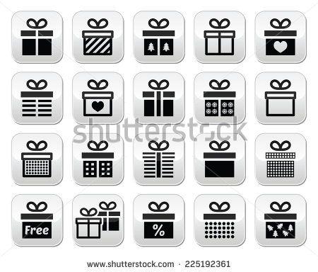 Present, gift box vector buttons set  by RedKoala #christmas #xmas