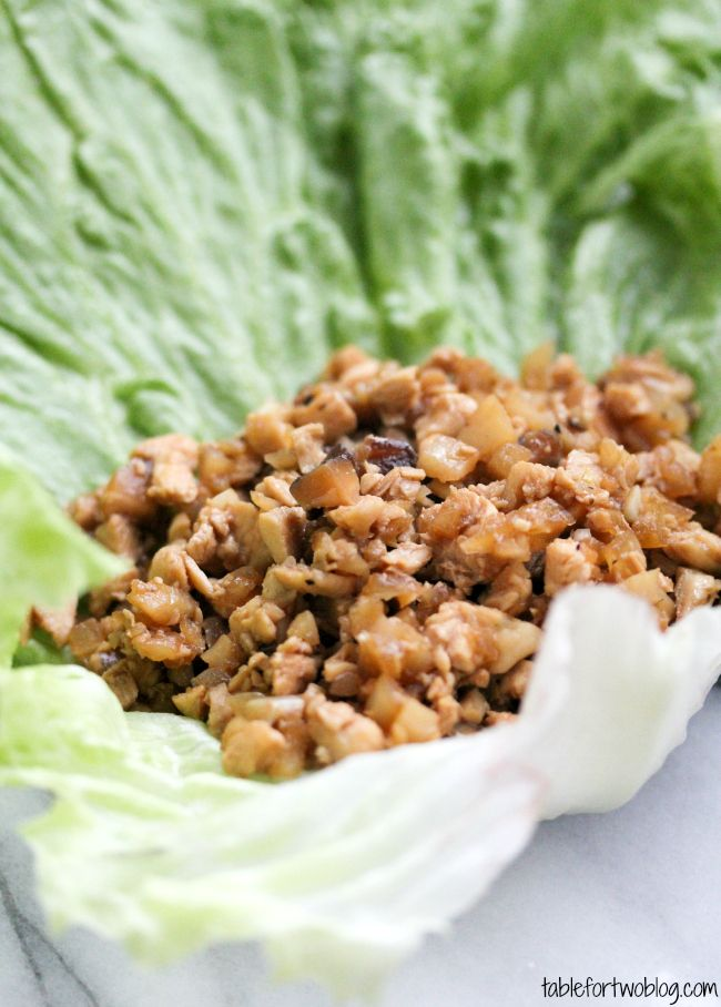 From the Archives: Take-Out, Fake-Out Chicken Lettuce Wraps » Table for Two It has less ingredients than you know who