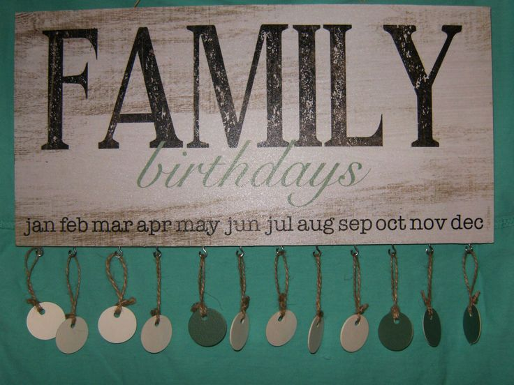 Family Birthday Plaque by southernwayapparelco on Etsy