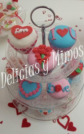 Cupcakes Navideños, cupcakes San Valentin, regale dulces con amor!!!  Palma de Mallorca.