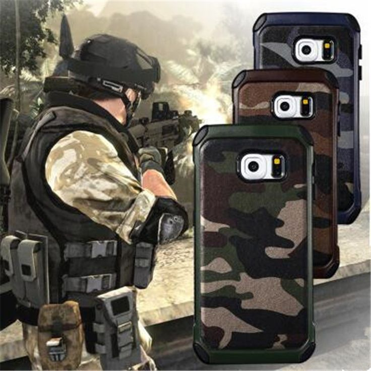 2 in 1 Army Camo Camouflage Pattern Back Cover Hard PC And Soft TPU Armor Protective Cases For Samsung Galaxy S7 / Edge / Plus